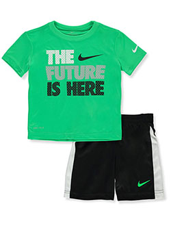 Baby Boys' 2-Piece Dri-Fit Shorts Set Outfit by Nike in Black, Boys Fashion