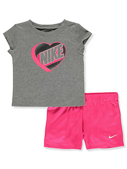 Baby Girls' 2-Piece Shorts Set Outfit by Nike in Pink