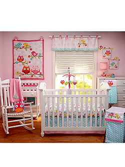 Love Birds 4-Piece Crib Bedding Set by Nojo in Multi