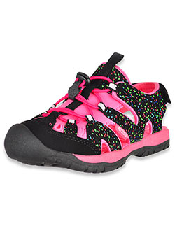 Girls' Burke Sport Sandals by Northside in Black/fuchsia, Shoes