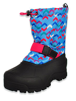 Girls' Reflective Stripe Winter Boots by Northside in Blue/fuchsia