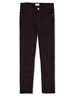 Girls' Skinny Stretch Twill Jeans in eggplant, sage and sugar pink - $8.99