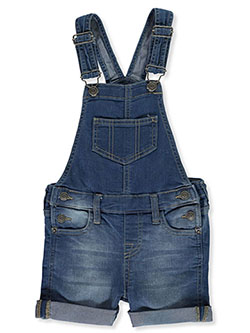 Girls' Denim Shortalls in Cloud - Overalls & Shortalls