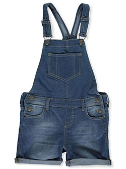 Girls' Denim Shortalls in Cloud - Overalls & Jumpers