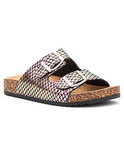 Double Strap Slingback Sandals by Olivia Miller in Black multi