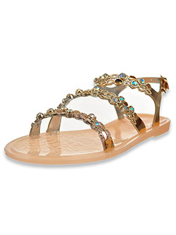 Girls' Bejeweled Strappy Sandals by Olivia Miller in Blush - Sandals