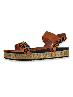 Girls' Double Strap Sandals by Olivia Miller in leopard and silver