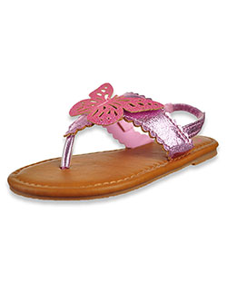 Girls' Glitter Butterfly Sandals by Olivia Miller in pink and silver