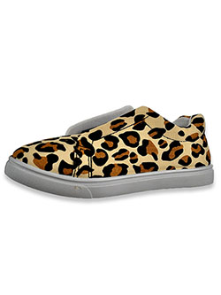 Banded Canvas Slip-On Sneakers by Olivia Miller in Leopard