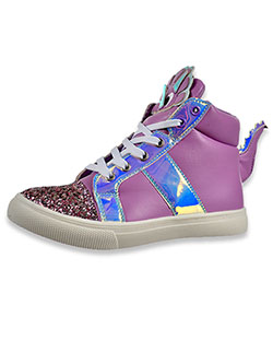 Sparkle Dragon Hi-Top Sneakers by Olivia Miller in Purple