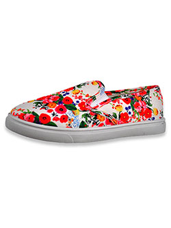 Girls' Floral Print Slip-On Sneakers by Olivia Miller in Multi, Shoes