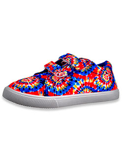 Girls' Tie-Dye Double Strap Sneakers by Olivia Miller in Blue/multi