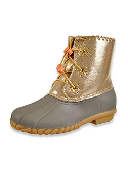 Girls' Metallic Duck Boots by Olivia Miller in Gray