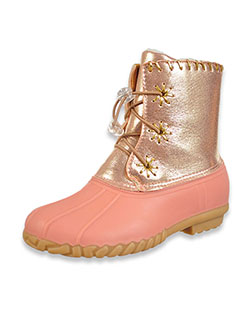 Girls' Metallic Duck Boots by Olivia Miller in Pink