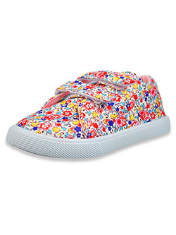 Girls' Floral Canvas Strap Sneakers by Olivia Miller in Multi, Shoes