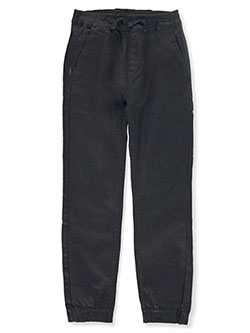 Boys' Stretch Twill Joggers by Phat Farm in black, burgundy, dark olive and tobacco