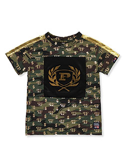 Boys' Camo & Gold T-Shirt by Phat Farm in Army camo