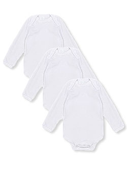 L/S Bodysuits 3-Pack by Big Oshi in White