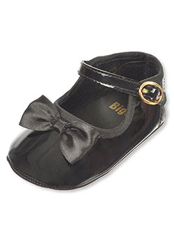 "Baby Girls' ""Toe Bow"" Mary Jane Booties by Big Oshi in Black"