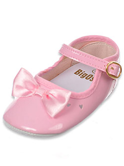"Baby Girls' ""Toe Bow"" Mary Jane Booties by Big Oshi in Pink"