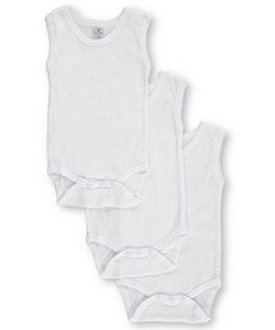 Sleeveless Bodysuits 3-Pack by Big Oshi in White