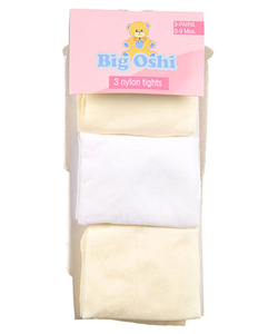 Big Oshi 3-Pack Nylon Tights (Size 0-9M) - CookiesKids.com