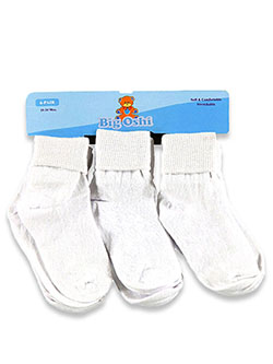Baby Girls' 6-Pack Ankle Socks by Big Oshi in White - $4.99