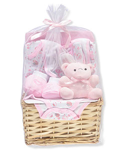 Baby Girls' 9-Piece Gift Set by Big Oshi in Pink