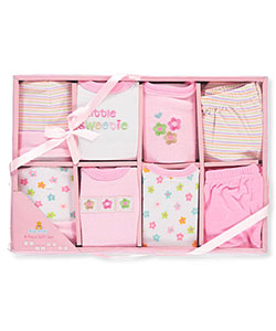 Baby Girls' 8-Piece Layette Set by Big Oshi in Pink