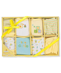 Unisex Baby 8-Piece Layette Set by Big Oshi in Yellow