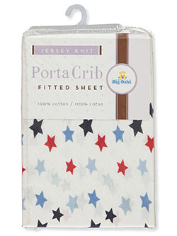 Porta Crib Jersey Knit Fitted Cotton Sheet by Big Oshi in Star
