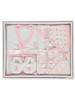 Baby Girls' 5-Piece Bath Gift Set by Big Oshi in Pink