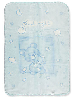 Goodnight Baby Blanket by Big Oshi in blue and pink
