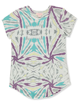 Girls' Tie-Dye T-Shirt by Poof Girl in Violet, Girls Fashion