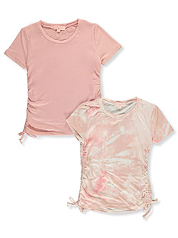 Girls' 2-Pack Tops by Poof Girl in blush and purple