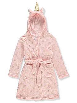 Girls' Hooded Robe by Limited Too in Pink/gold
