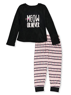 Girls' Meow or Never 2-Piece Pajamas by Candie's Girl in Multi