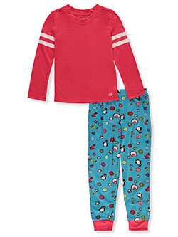 Girls' Penguin Print 2-Piece Pajamas by Candie's Girl in Multi