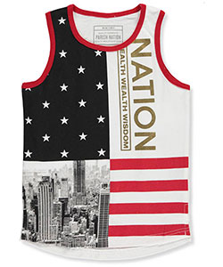 "Parish Nation Little Boys' ""Gotham Patriot"" Tank Top (Sizes 4 – 7) - CookiesKids.com"
