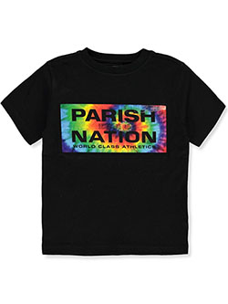 Boys' World Class Athletics T-Shirt by Parish Nation in black and red