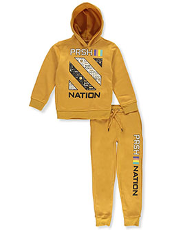 Boys' PRSH 2-Piece Sweatsuit Outfit by Parish Nation in Timber, Boys Fashion