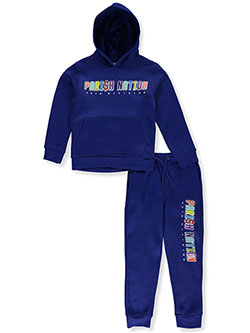 56th Division 2-Piece Sweatsuit Outfit by Parish Nation in Royal blue - $19.99