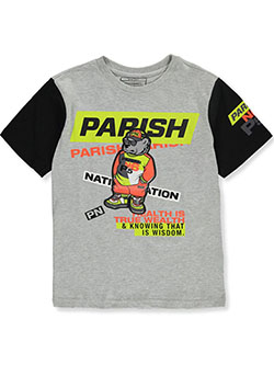 Boys' N6 P5 T-Shirt by Parish Nation in Heather gray