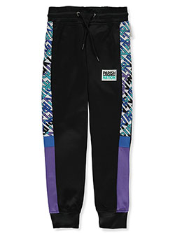 Boys' Pieced Tricot Joggers by Parish Nation in Black