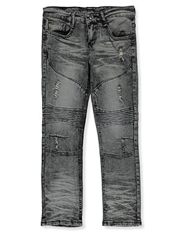 Boys' Moto Jeans by Parish Nation in Gray