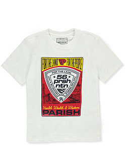 Boys' Shield Logo T-Shirt by Parish Nation in White