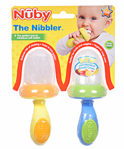 Nuby Nibbler 2-Pack with Travel Covers - CookiesKids.com