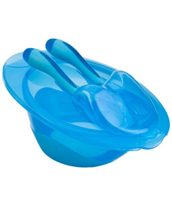 Nuby Easy Go Bowl with Fork & Spoon - CookiesKids.com