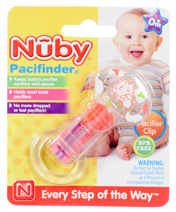 Nuby Pacifinder Knob Pacifier Clip - CookiesKids.com