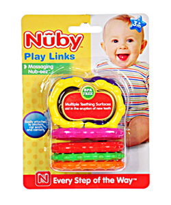 Nuby Play Links Teether (Ages 3M +) - CookiesKids.com